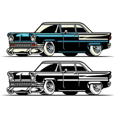 vintage american classic car vector image