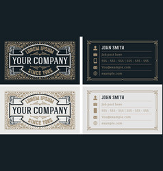 vintage and luxury business card template vector image