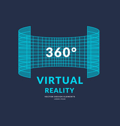 Virtual reality and new technologies for games vector