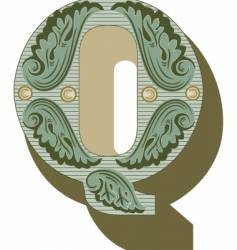 western letter q vector image