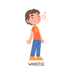 Whistle word verb expressing action vector