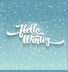white text on green blue background with snow vector image