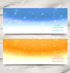 xmas banners vector image