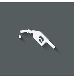 gasoline fuel nozzle symbol vector image