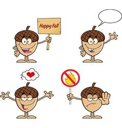 Cartoon acorn design vector image