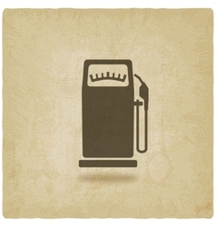 gasoline pump old background vector image vector image