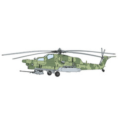 mi 28 havoc military attack combat helicopter vector image