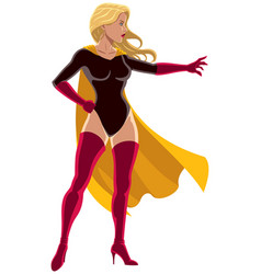 superheroine power vector image vector image