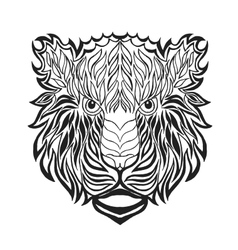Zentangle stylized tiger head Sketch for tattoo vector image vector image