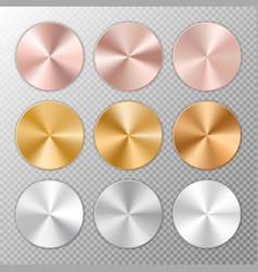 conical metal gradients vector image