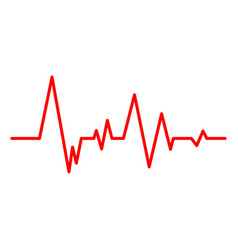 creative of heart line vector image
