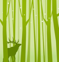 Deer in Forest Green vector image vector image