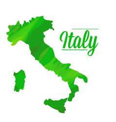 isolated italian map vector image vector image