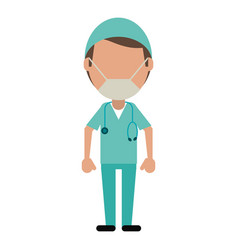 male surgeon medical professional vector image vector image