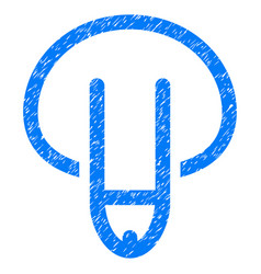 penis grunge icon vector image