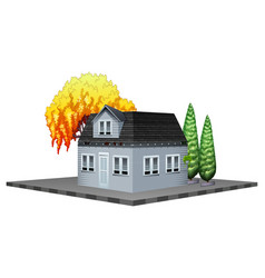 architecture design for gray house with trees vector image