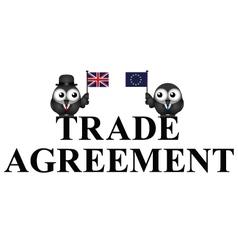 Comical UK EU Trade Agreement vector image vector image