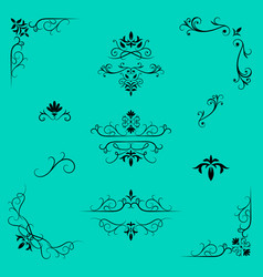 decorative design elements border and page rules vector image