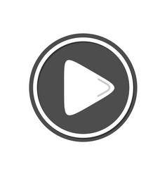 media play button simple icon design vector image