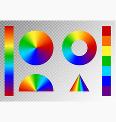 set of rainbow gradients vector image