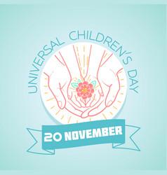 20 november childrens day flower vector image