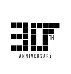 30 th anniversary pixel model template design vector