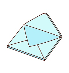 A letter envelope is placed vector