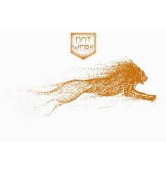 attack motion of lion vector image