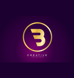 b letter gold logo design modern b icon with vector image