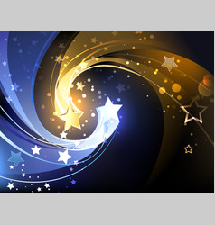 background with two contrasting stars vector image