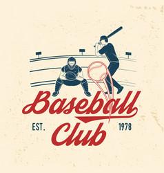 Baseball or softball club badge vector