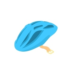 Blue bicycle helmet icon cartoon style vector image
