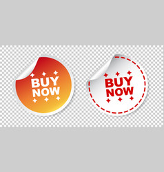 buy now stickers on isolated background vector image