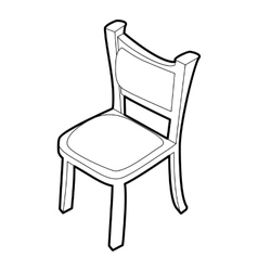 Chair icon isometric 3d style vector