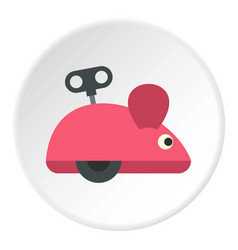 Clockwork mouse icon circle vector