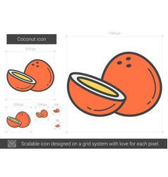 coconut line icon vector image