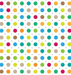 Colorful seamless polka dots background vector image