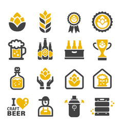 Craft beer icon vector