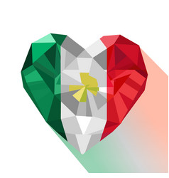 Crystal flag of the united mexican states vector