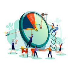 Deadline time management business concept vector
