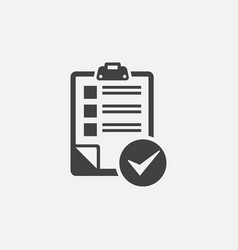 document check list icon vector image