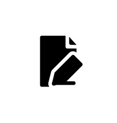 document editor icon with line style vector image