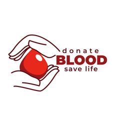 donate blood and save life isolated icon vector image