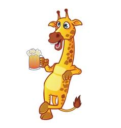 Drunken giraffe vector
