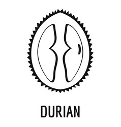Durian icon simple style vector