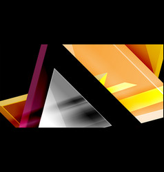 dynamic triangle composition abstract background vector image