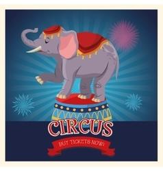 Elephant of carnival design vector