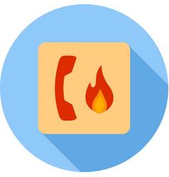 Fire emergency vector