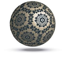 Floral sphere vector