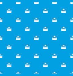 Funicular pattern seamless blue vector